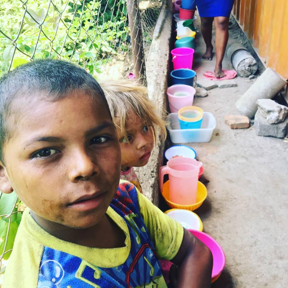 Children in feeding program in El Limonal Nicaragua.